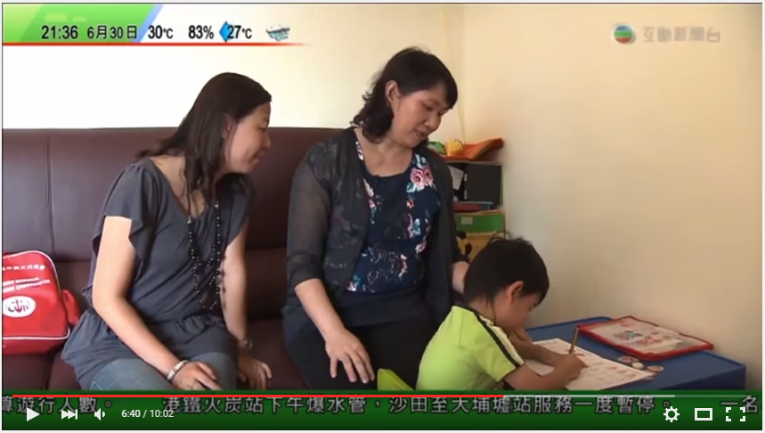 May姐代表尋保網接受TVB訪問工作情況